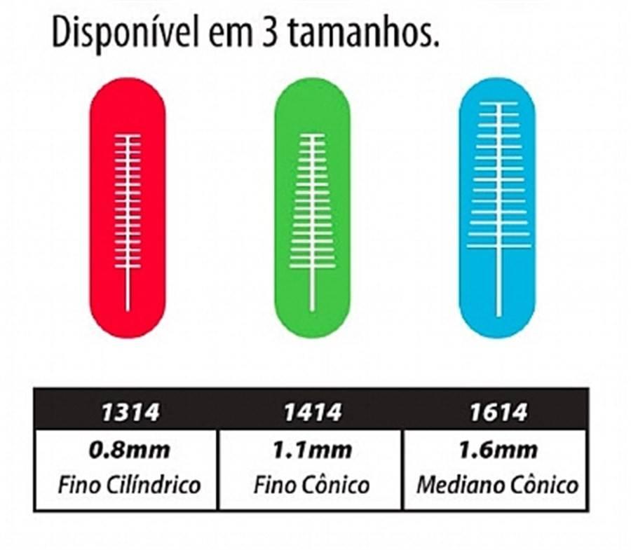 Escova Interdental Proxabrush GUM - 4 unid - 1,1MM - tamanho Fino Conico
