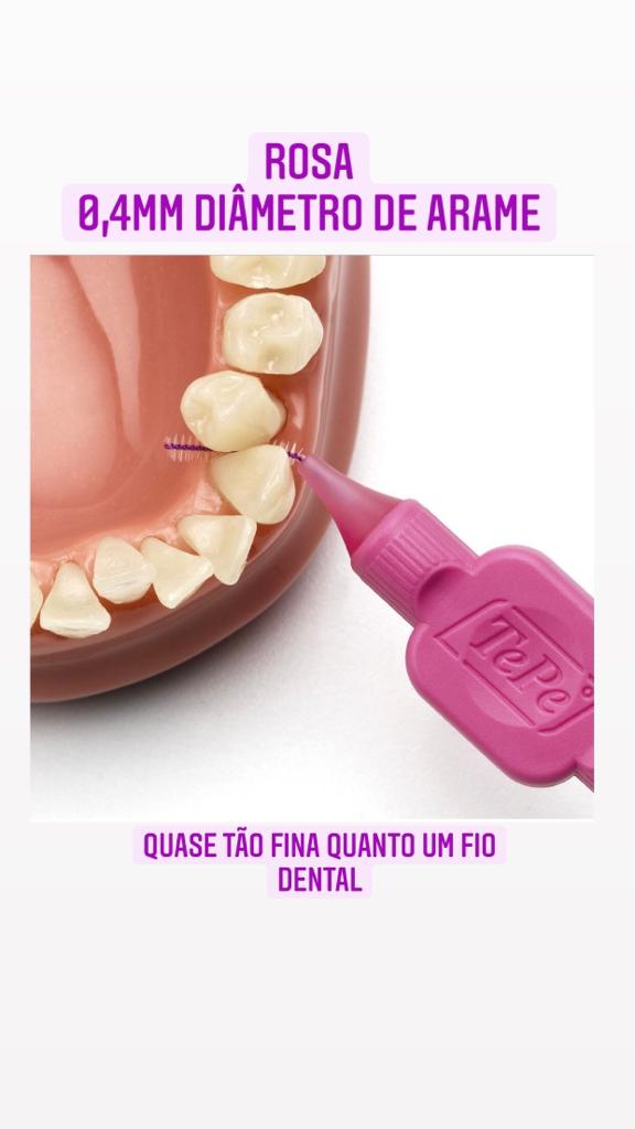 Escova interdental tepe - macia 0,4 (rosa)