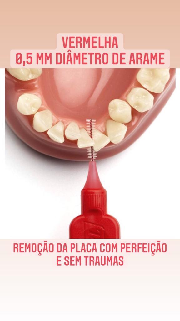 Escova interdental tepe - macia 0,5 mm(vermelha)