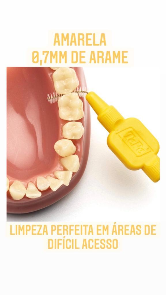 Escova interdental tepe - macia 0,7mm (amarela)