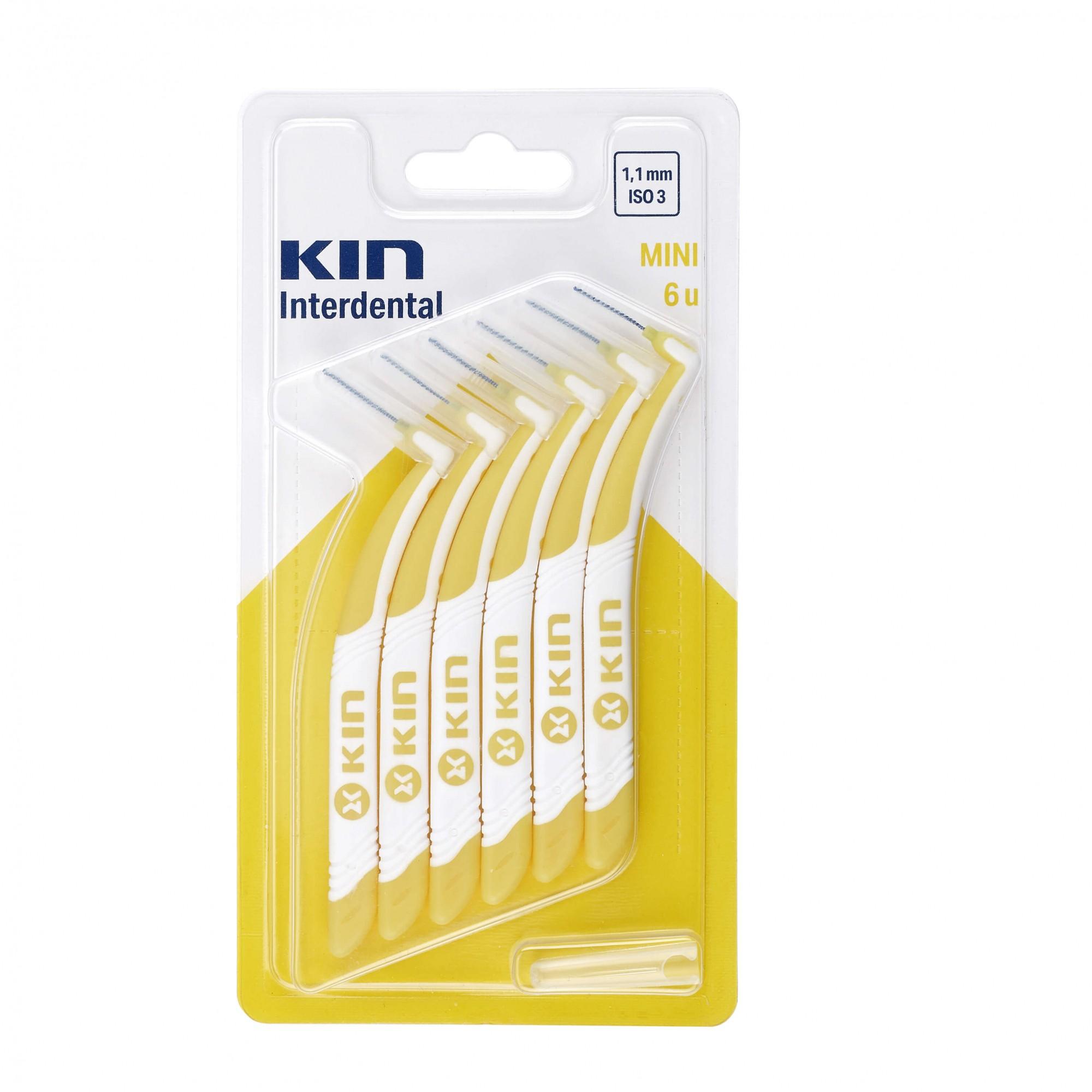 Escova Kin Interdentária Mini (1,1mm - ISO3) - amarela