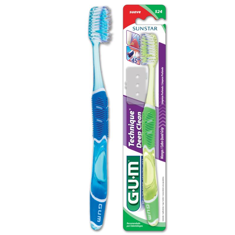 Kit de saúde bucal com escova importada GUM grátis