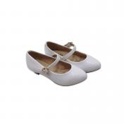Sapato Molekinha Branco Verniz