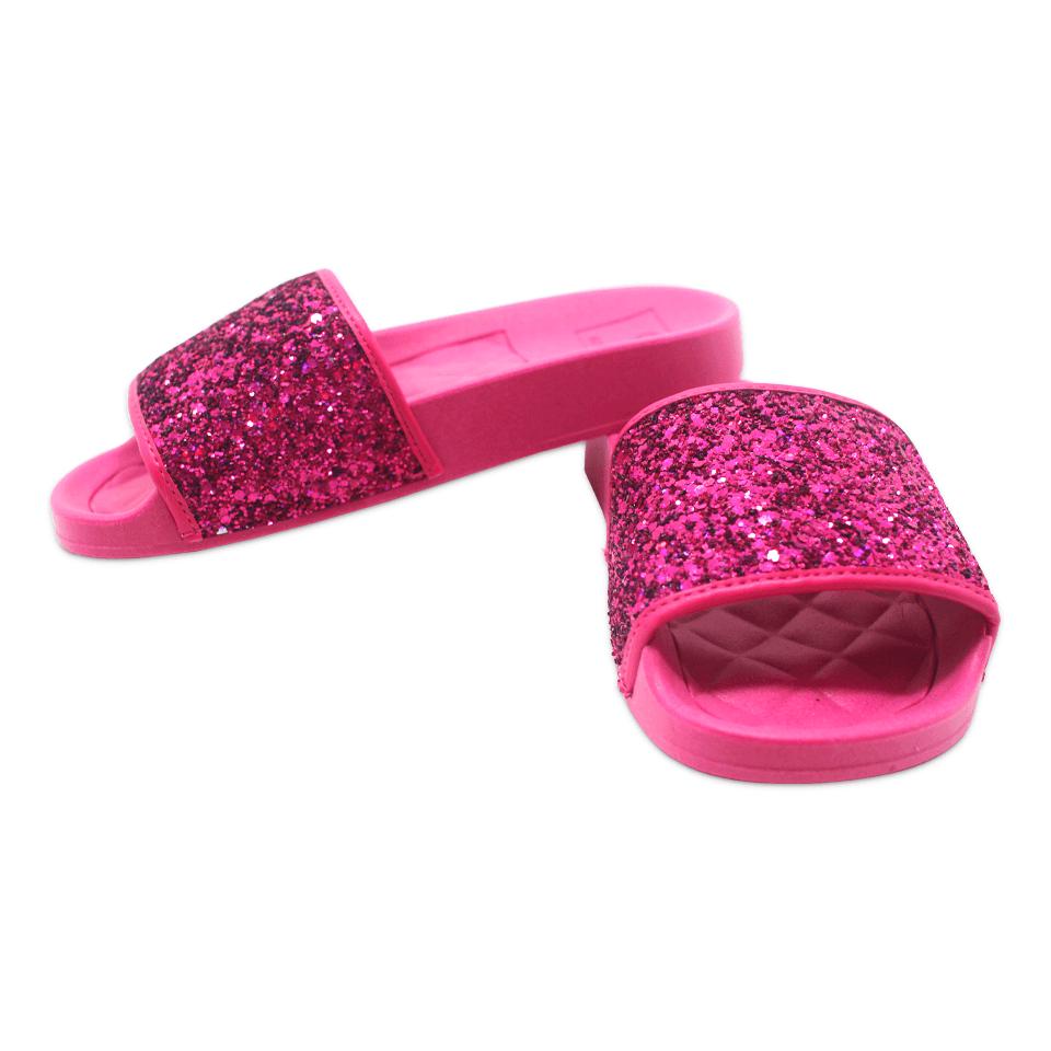 Chinelo Gliter Molekinha Glamour Pink/Pink