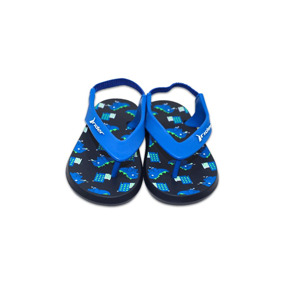 Chinelo Grendene Rider Baby Preto/Azul/Verde