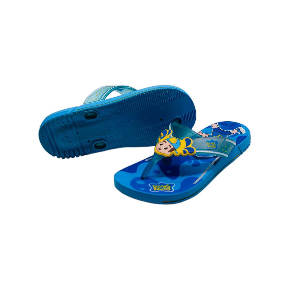 Chinelo Luccas Neto Azul/Amarelo