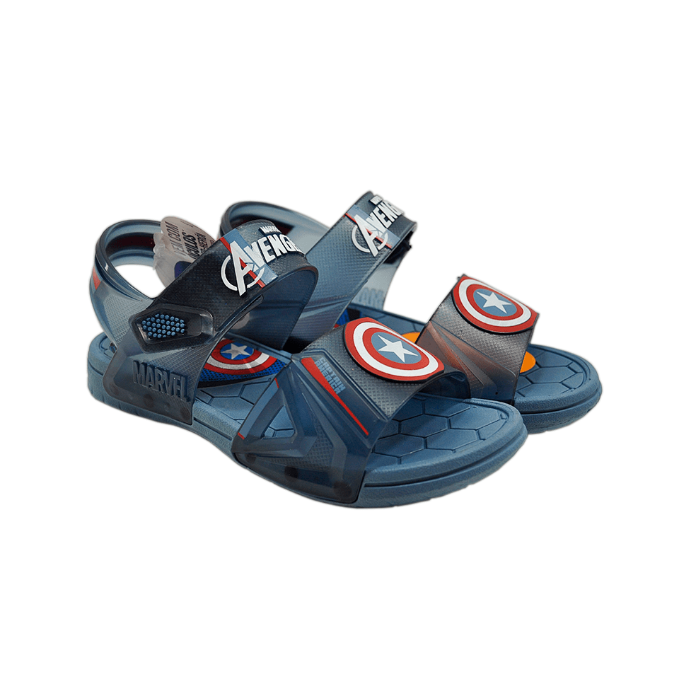 Sandália Grendene Marvel Hero Glasses Azul/Azul Trasparente