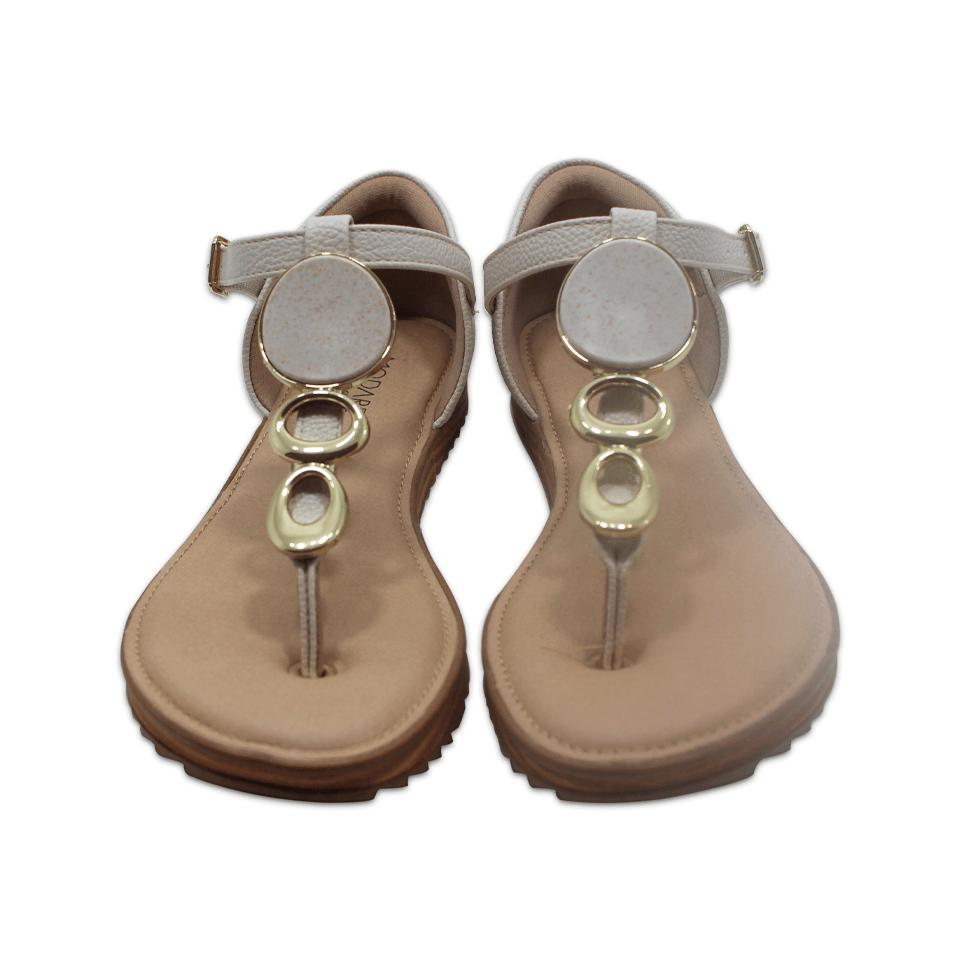 Sandália Modare Branco Napa Floather Confort