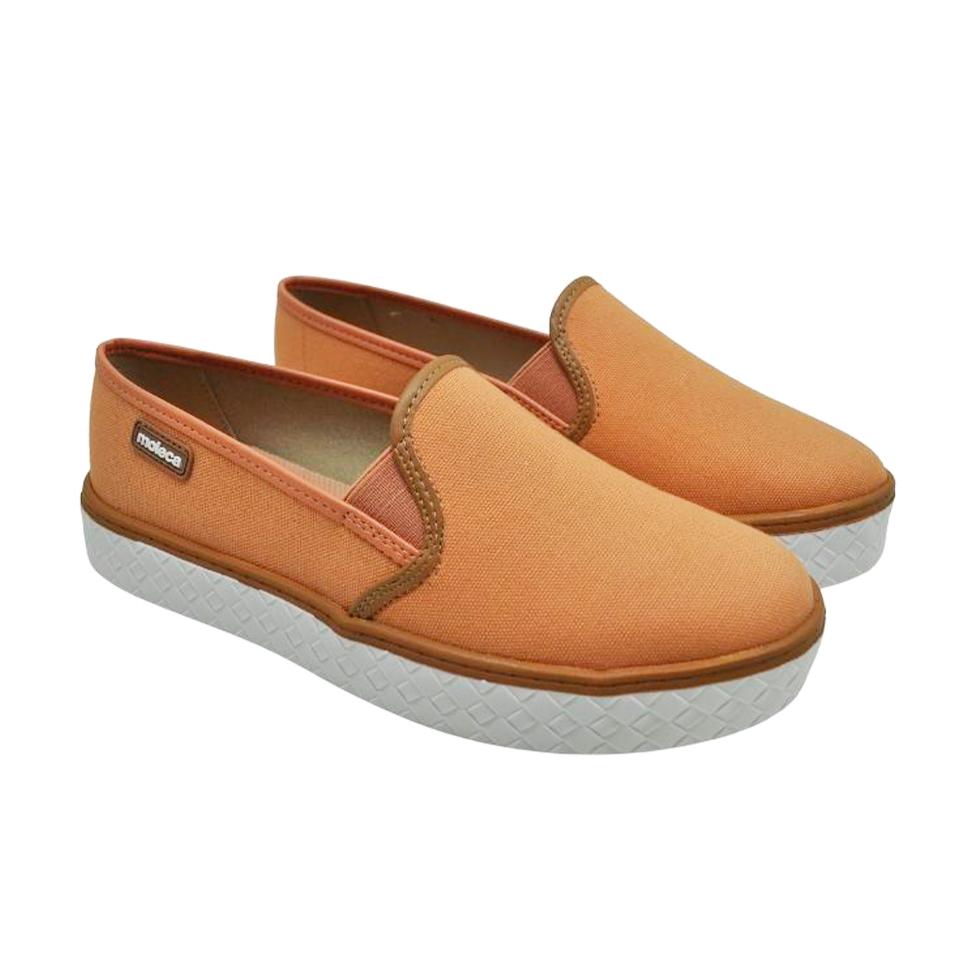 Sapato Moleca Lona Sider Coral