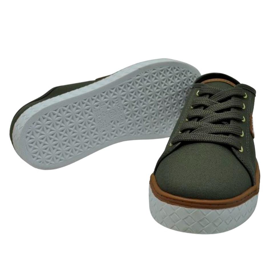 Sapato Moleca Lona Sider Oliva