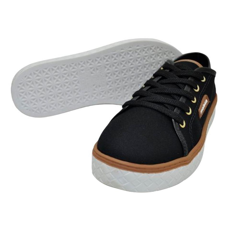 Sapato Moleca Lona Sider Preto