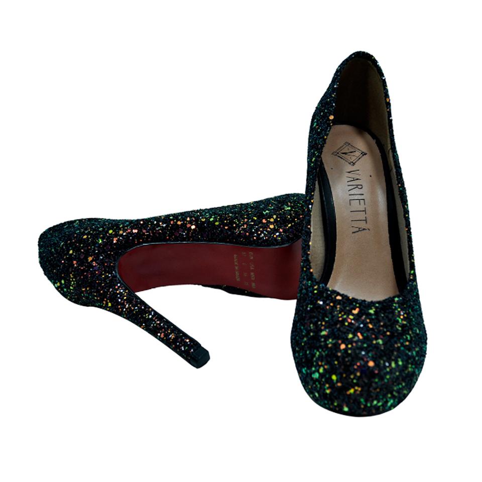 Sapato Variettá Gliter Furtacor Preto