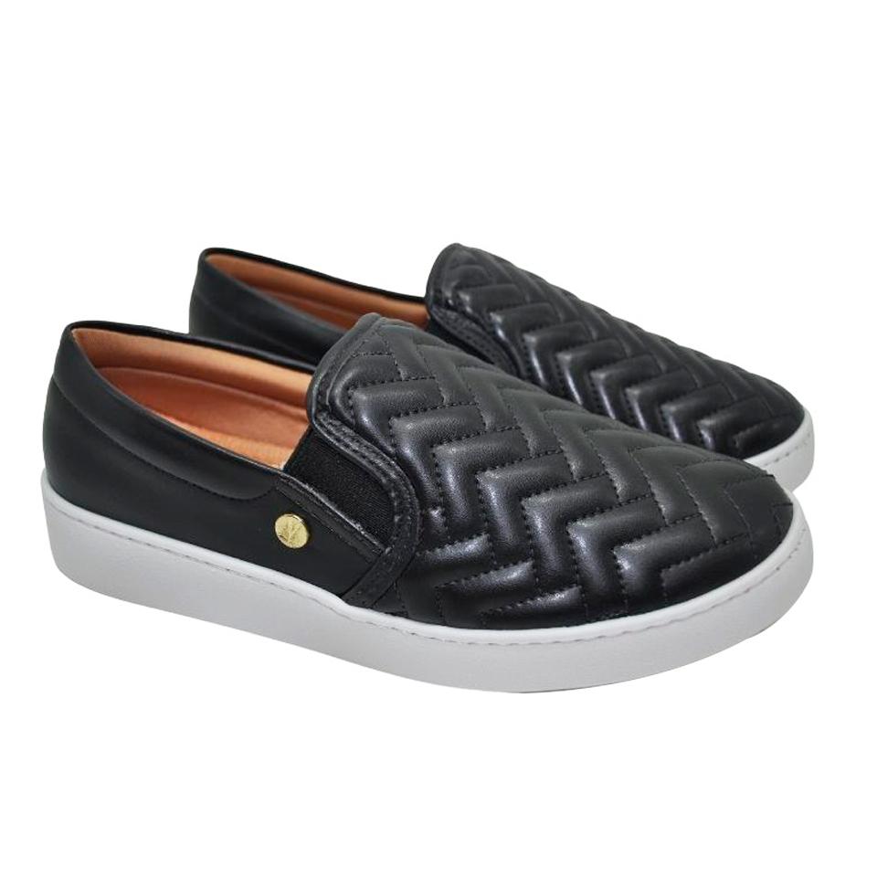 Sapato Vizzano Napa Pele Preto