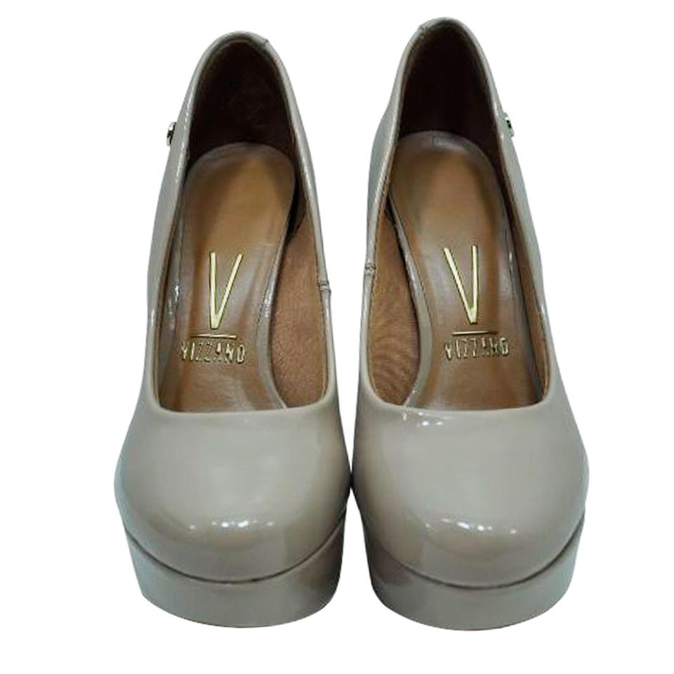 Sapato Vizzano Verniz Premium Bege