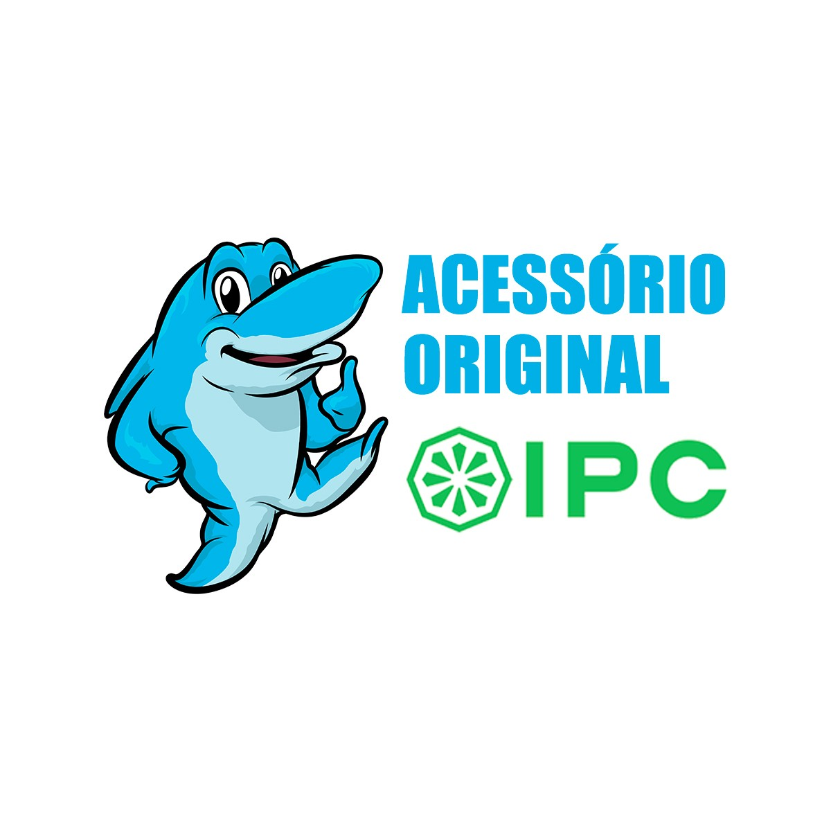 Bico Redondo com Cerdas 36mm Original IPC para Aspiradores de pó ECOCLEAN