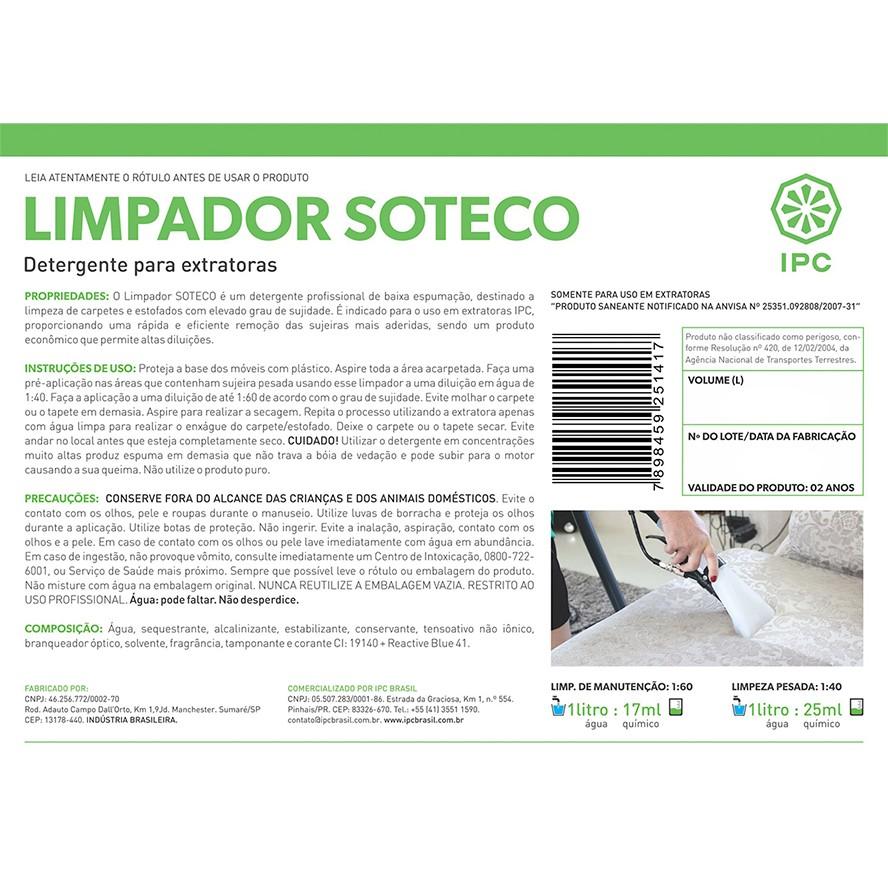 Detergente Limpador IPC 1Lt para Estofado Carpete Extratora