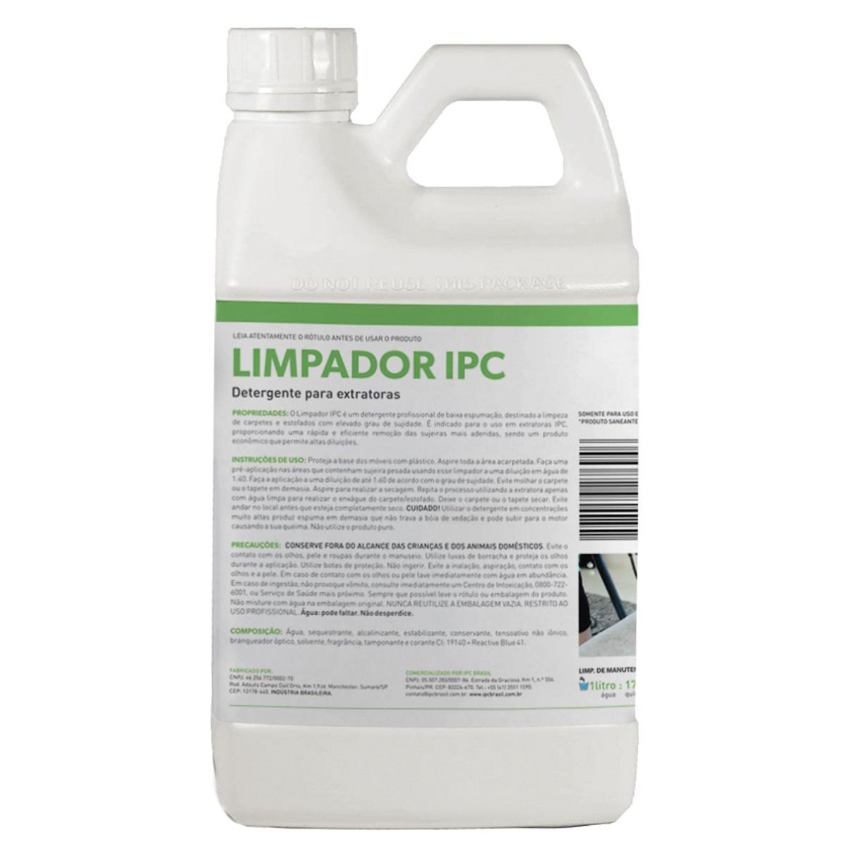 Detergente Limpador IPC 2Lt para Estofado Carpete Extratora