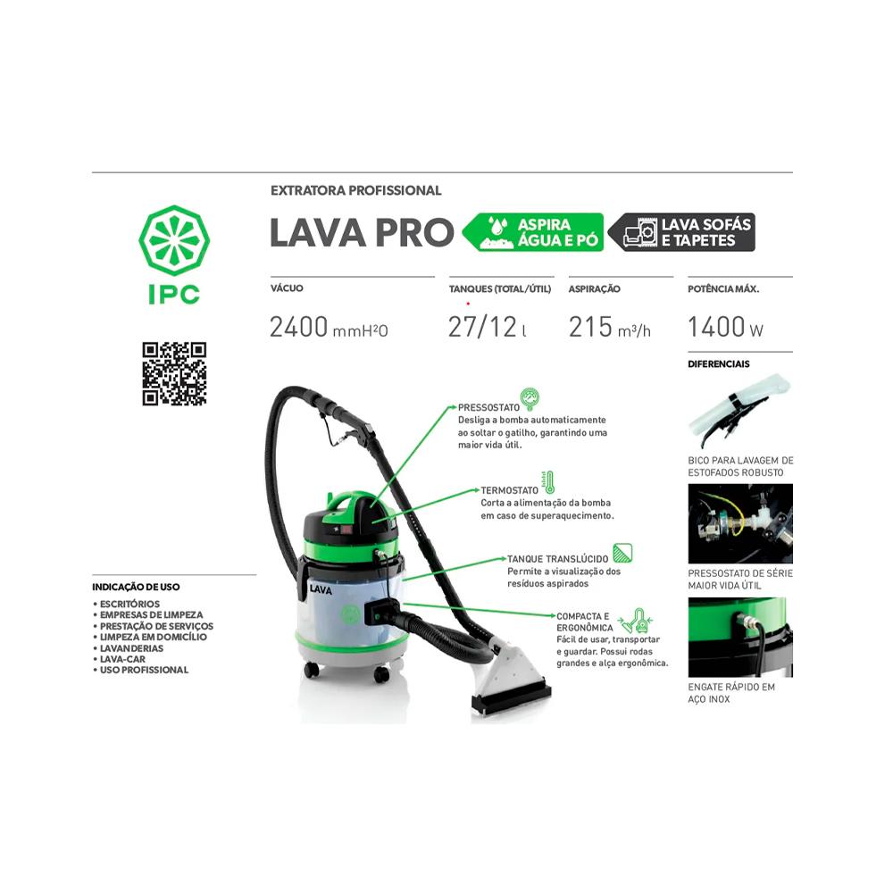 Extratora IPC Lava Pro 1200w 27Lts 127v  - IPC