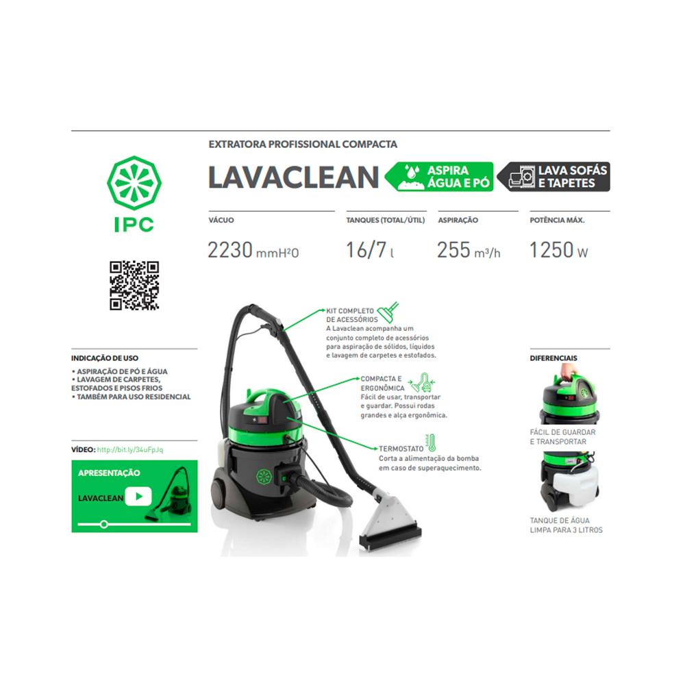 Extratora IPC Lavaclean 1250w 16Lts 127v - IPC