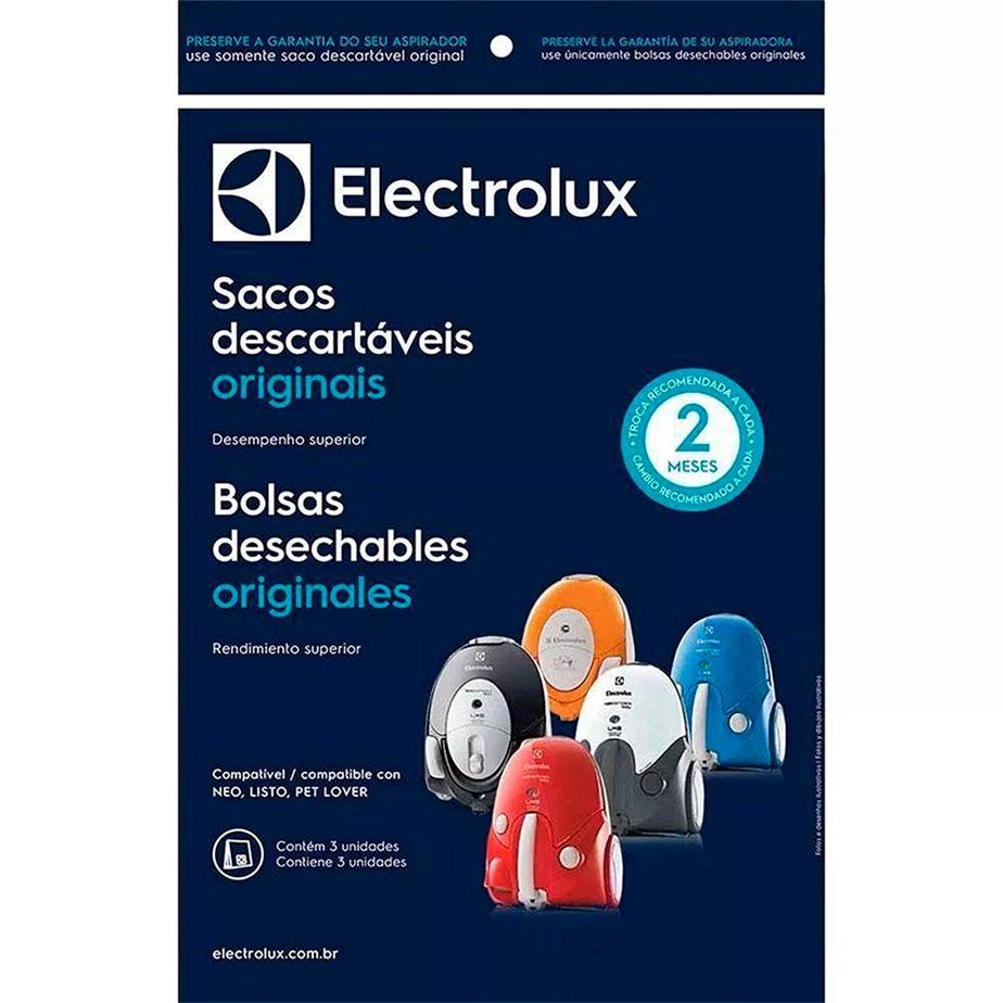 Kit 03un Saco descartável Original Electrolux Aspirador Neo Listo