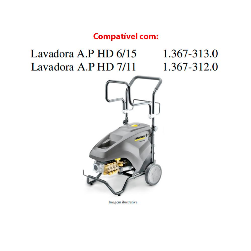 Kit Junta D18 para Lavadora de Alta Pressão Karcher HD6/15-4 HD7/11 3peças Original