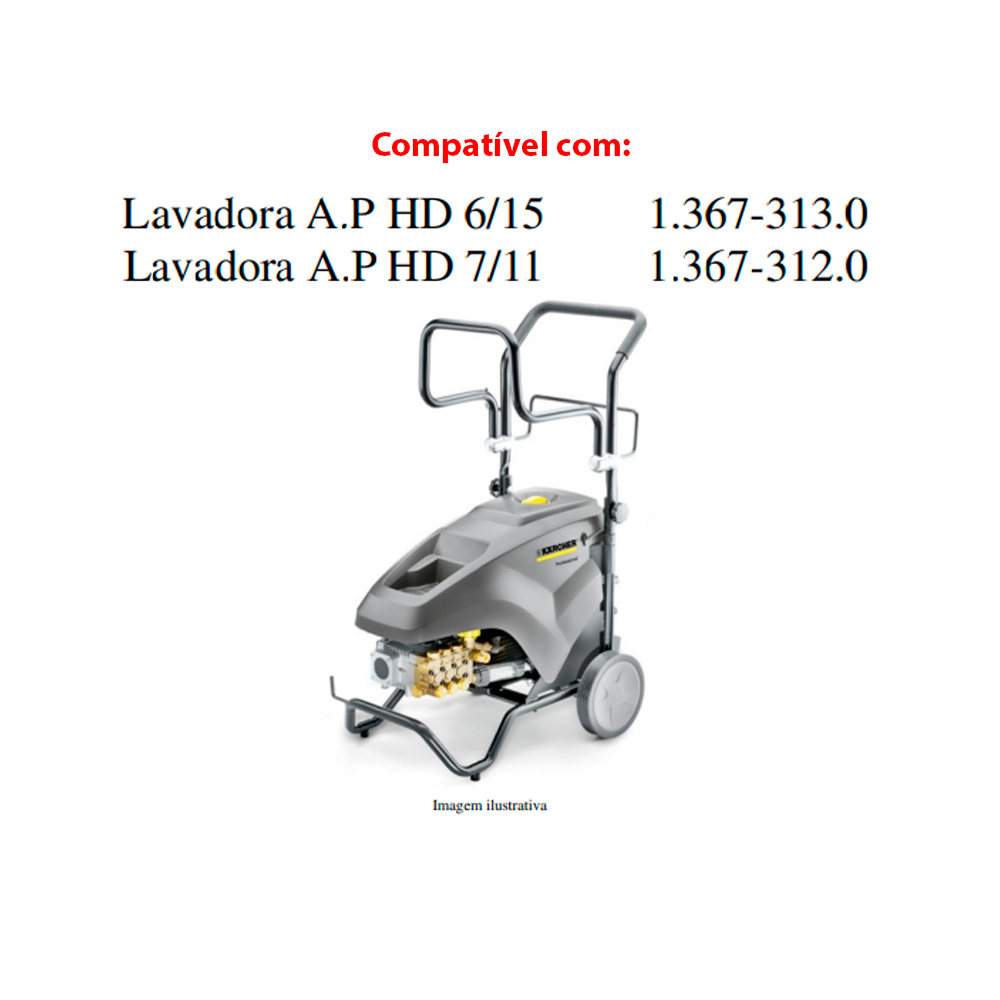 Junta D18 para Lavadora de Alta Pressão Karcher HD6/15-4 HD7/11 3peças Original