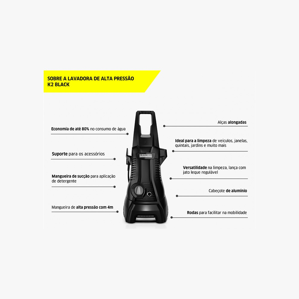 Lavadora de Alta Pressão Karcher K2 Black 110v 1600psi