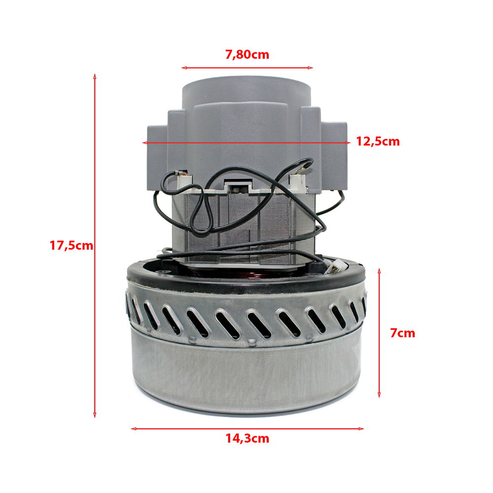 Motor para Aspirador IPC AA135, AA162, Aspiracar 50, Aspiracar 80, AP150, Extratora EA135, EA162, EP150, Lava Pro 220v Original