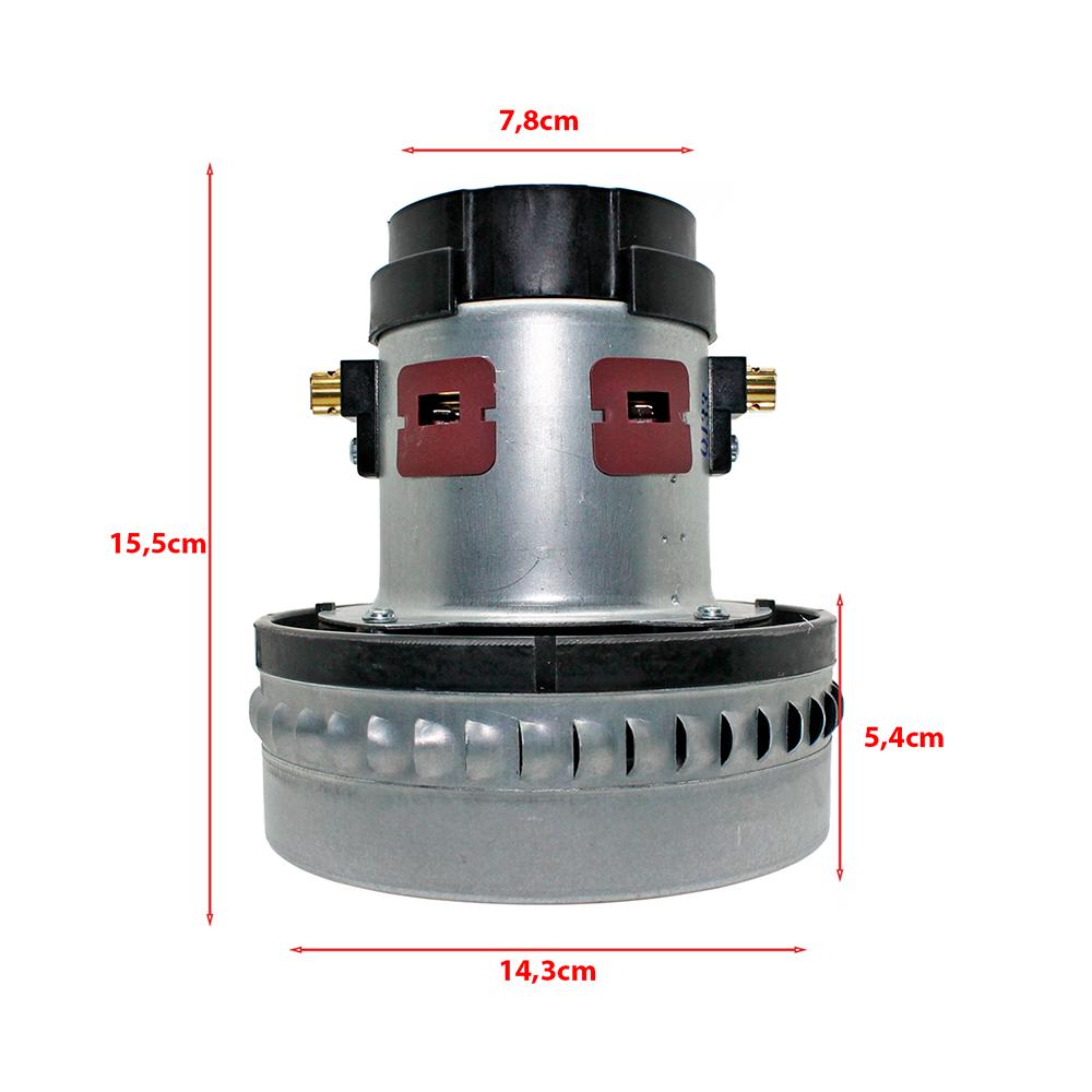 Motor para Aspirador Wap GT Turbo, GT Profi Turbo, Turbo 2001, Turbo 2002 e Extratora Carpet Cleaner 127v 1400w Original