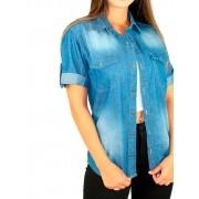 Camisa Manga Curta Feminina