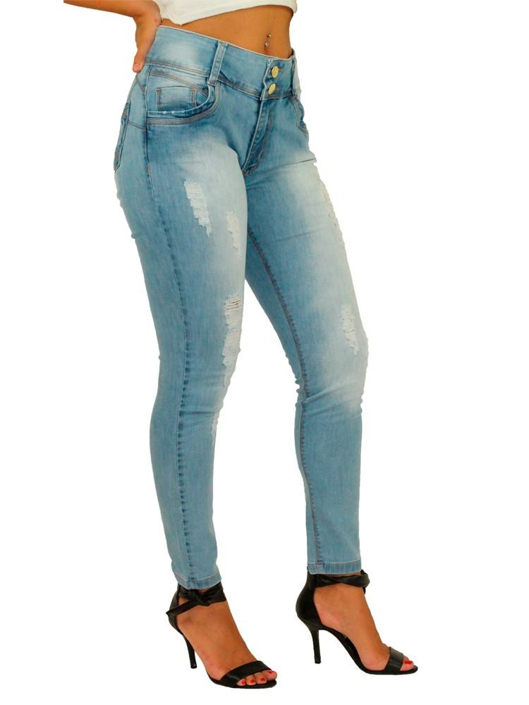 Calça Jeans Destroyed Coleção Premium