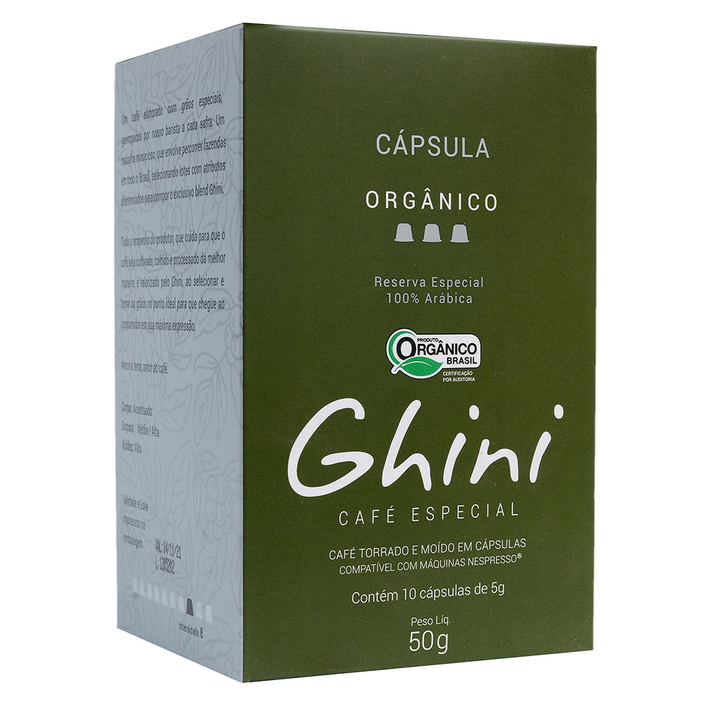 Café em Capsula Orgânico Compatível com Nespresso®  - Café Ghini