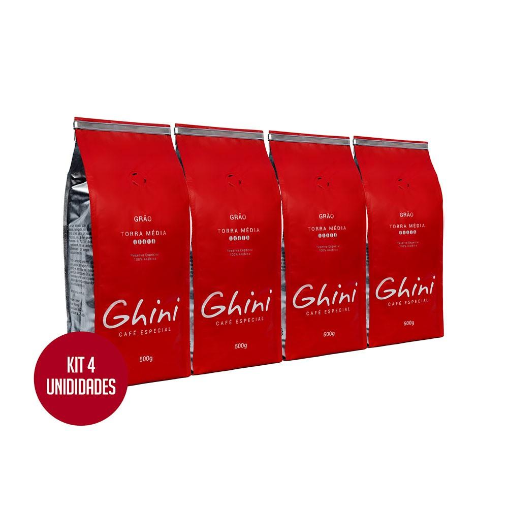 Kit Café em Grãos 500g - 4 Pacotes  - Café Ghini