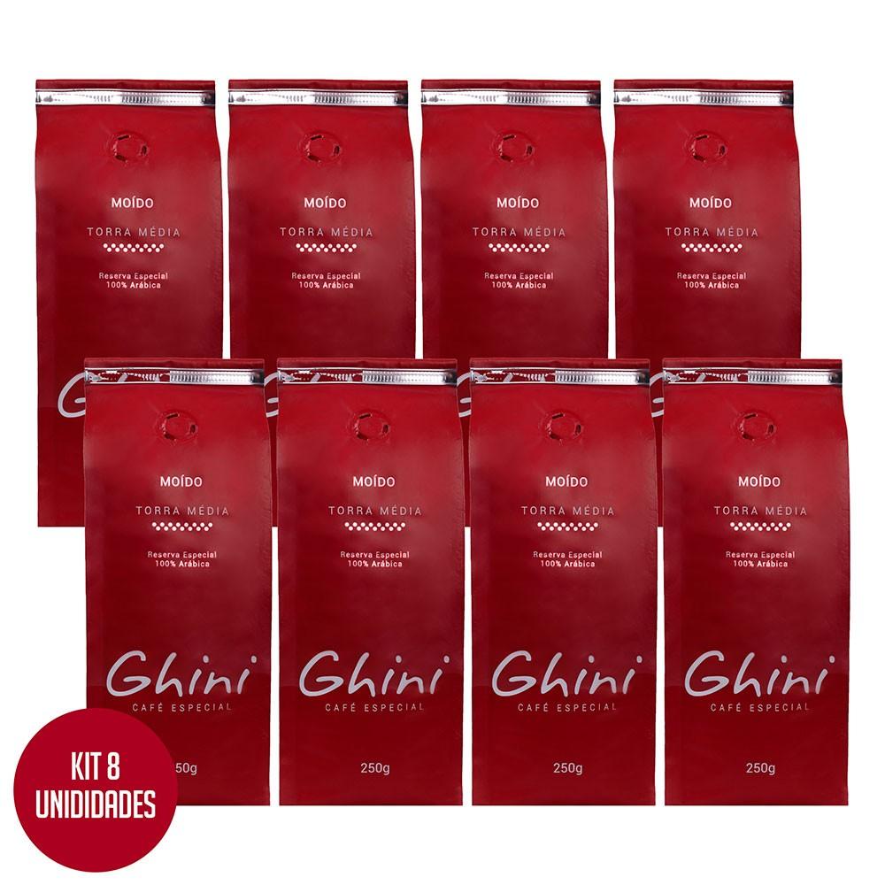 Kit Café Moído 250g - 8 Pacotes  - Café Ghini