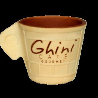 Xícara crocante comestível com chocolate 60 Unid  - Café Ghini