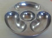 Petisqueira Redonda Alumínio Polido 34cm