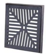 Ralo de Ferro 10x10 cm com caxilho