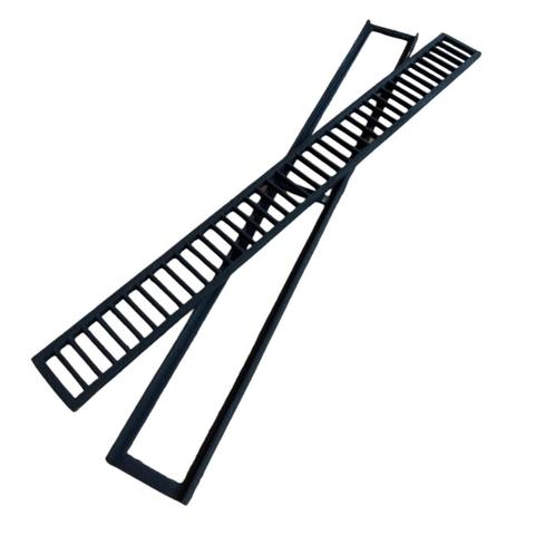 Grelha de ferro fundido com caixilho 15x100 cm  - Panelas Ferreira