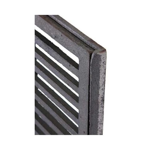Grelha de ferro fundido com caixilho 20x50 cm  - Panelas Ferreira