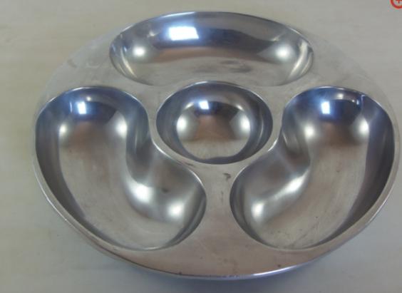 Petisqueira Redonda Alumínio Polido 34cm  - Panelas Ferreira