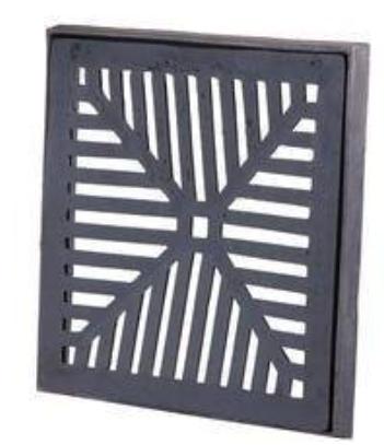 Ralo de Ferro com caxilho 10x10 cm  - Panelas Ferreira