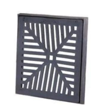Ralo de Ferro com caxilho 35x35  - Panelas Ferreira
