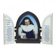 Capela com porta madeira resinada Santa Dulce dos Pobres