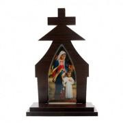 Capela Madeira Maria Passa na Frente 17cm