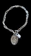 Pulseira Cadeia da consagração com medalha de Nossa Senhora das Graças INOX