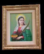 Quadro Santa Luzia com moldura dourada