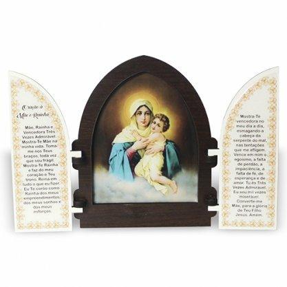 Capela da Mãe Rainha de Schoenstatt em Madeira 18CM com porta