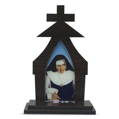 Capela madeira Santa Dulce dos Pobres 17 cm