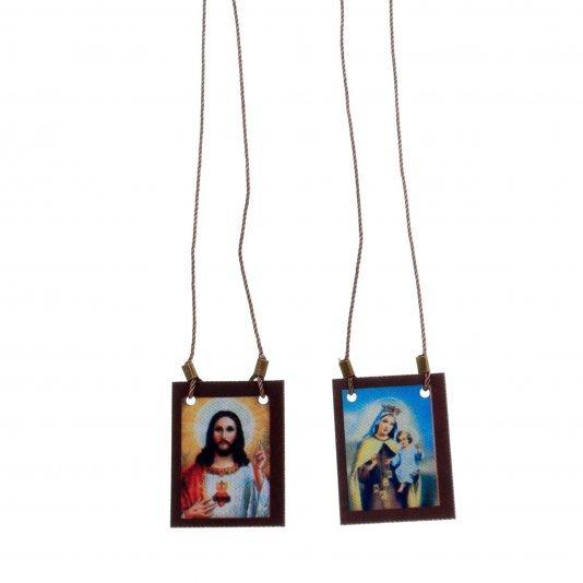 Escapulário de cordão Nossa Senhora do Carmo