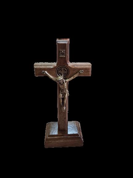 Crucifixo Madeira de Mesa 9cm